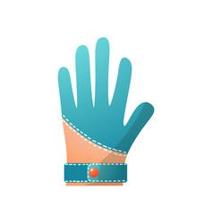 Blue leather golf glove modern professional vector