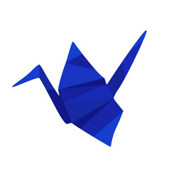 blue low poly origami vector image