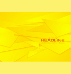 bright yellow geometric polygonal background vector image