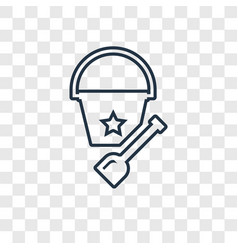 Bucket toy concept linear icon isolated on vector