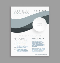 Business brochure template in white color vector