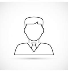 Businessman avatar thin line icon vector image