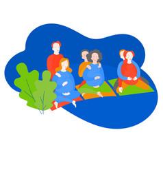 Cartoon pregnancy courses for couples vector