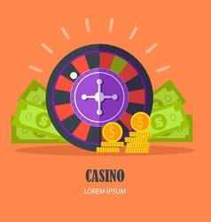 casino concept flat design vector image