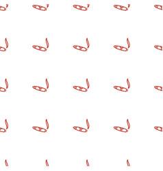 Cigarette icon pattern seamless white background vector