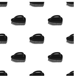 Cleaning brush icon in black style isolated on vector