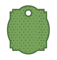 commercial tag dotted isolated icon vector image