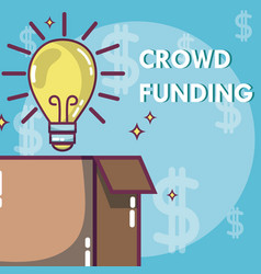 Crowdfunding money business vector
