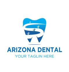 dental arizona logo designs vector image