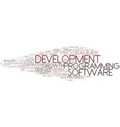 development word cloud concept vector image