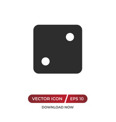 Dice number two icon vector