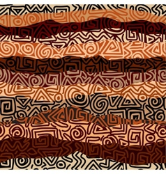 Ethnic strikes pattern in blrown colors vector