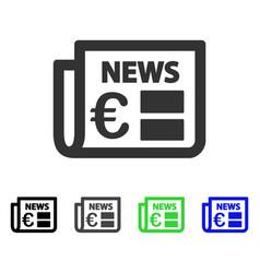 Euro newspaper flat icon vector