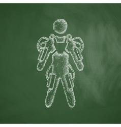 Exoskeleton icon vector