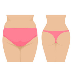 female fat and thin ass before and after vector image