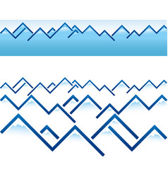 Geometric mountain ridges in blue vector
