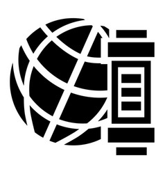 global energy icon simple style vector image