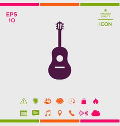 guitar icon symbol vector image