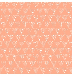 Hand-drawn seamless floral pattern retro colors vector image