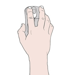 Hand holding a mouse vector