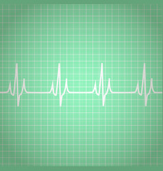 Heart beats cardiogram background vector