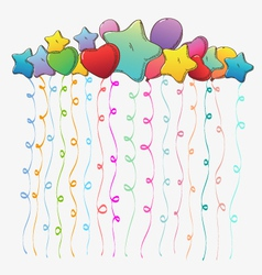 Holiday backgrounds balloons vector