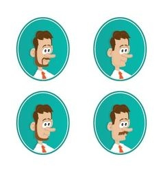 icons beard mustache vector image