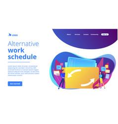 Job sharing concept landing page vector
