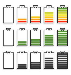 Level progress indicators battery level vector