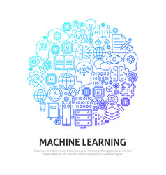 Machine learning circle concept vector