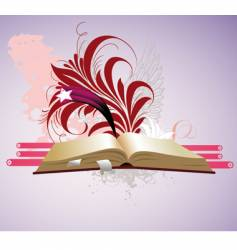 magical book vector image