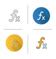 Math function icon vector