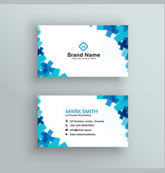 Medical or healthcare style business card design vector