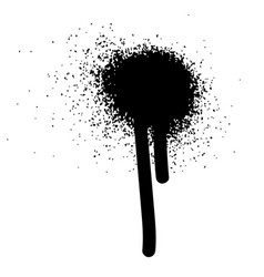 Multiple black ink drops and splashes vector