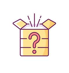 Mystery box rgb color icon vector