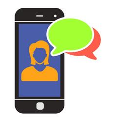 Nline assistant icon customer service female vector