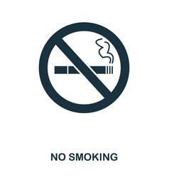 no smoking icon line style icon design ui vector image