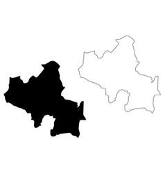 North central province sri lanka map vector