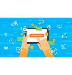 online market Concept vector image