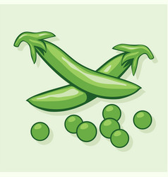 pods of green peas vector image