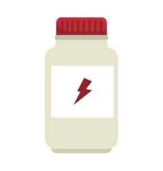 protein supplement bottle vector image