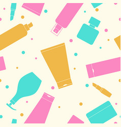 seamless pattern of containers for cosmetics vector image