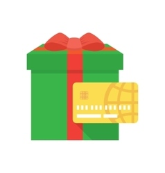 Shopping gift card icon vector image vector image