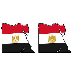 simplified map of egypt outline with slightly vector image