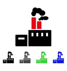 Smoking factory flat icon vector
