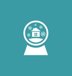 snowglobe icon simple winter sign vector image