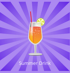 Summer drink orange or grapefruit juice and vodka vector