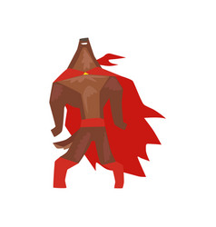 Superhero dog character standing with its head vector