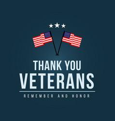 Thank you veterans logo template design vector