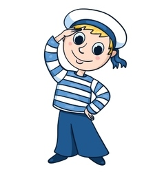 The little sailor vector image